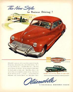 GM Oldsmobile-Postwar Driving!