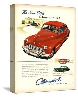GM Oldsmobile-Postwar Driving!