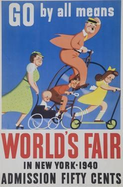 Go by All Means 1964 New York City Worlds Fair Poster