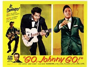 Go, Johnny, Go!, Bottom Left: Alan Freed, 2nd Left: Chuck Berry, Jackie Wilson, 1959