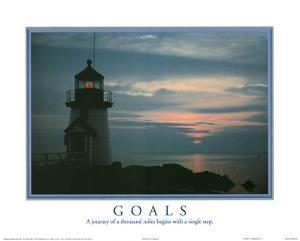 Goals A Journey of a Thousand Miles Begins with a Single Step Lighthouse