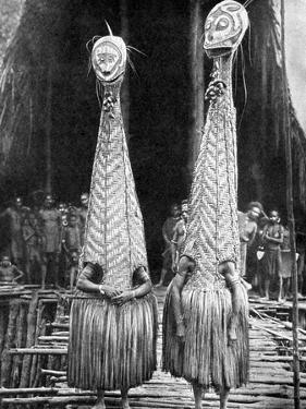 Goblin Masks and Visors Worn as Beauty Aids, Papua, New Guinea, 1936