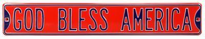 God Bless America Steel Street Sign