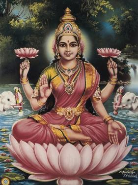 Goddess Srhi Sentamarai Laximi, Wife of Vishnu