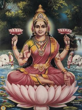 Goddess Srhi Sentamarai Laximi, Wife of Vishnu