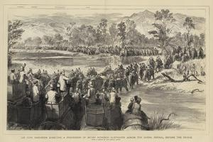 Sir Jung Bahadoor Directing a Procession of Seven Hundred Elephants across the Sarda by Godefroy Durand