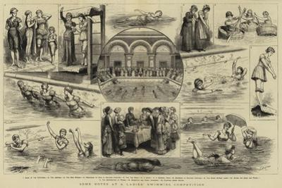 Some Notes at a Ladies' Swimming Competition by Godefroy Durand