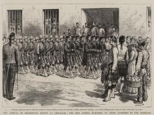 The Arrival of Regimental Drafts at Gibraltar by Godefroy Durand