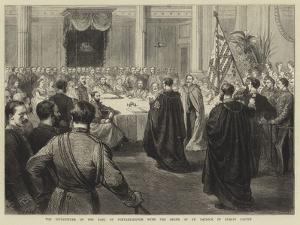 The Investiture of the Earl of Portarlington with the Order of St Patrick in Dublin Castle by Godefroy Durand