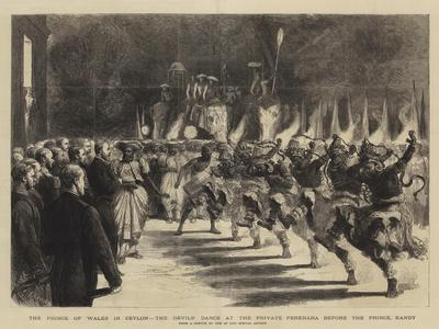 The Prince of Wales in Ceylon, the Devils' Dance at the Private Perehara before the Prince, Kandy