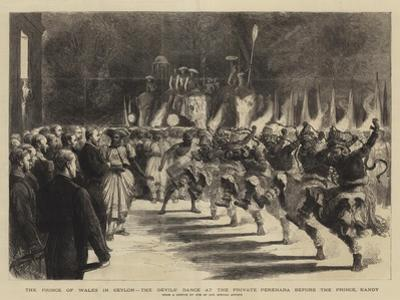 The Prince of Wales in Ceylon, the Devils' Dance at the Private Perehara before the Prince, Kandy by Godefroy Durand