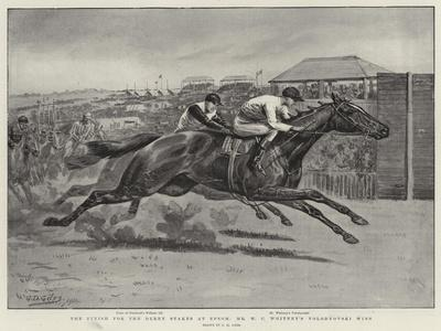 The Finish for the Derby Stakes at Epsom, Mr W C Whitney's Volodyovski Wins