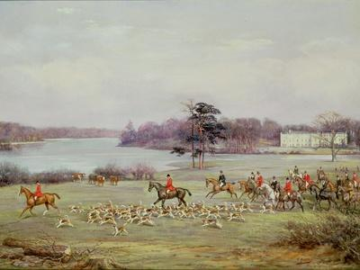 The South Cheshire Hunt in Combermere Park, 1904