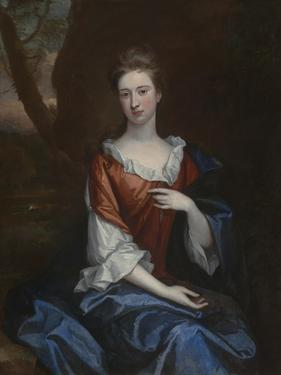 Portrait of a Lady in a Red Dress by Godfrey Kneller