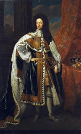 Portrait of King William III (1650-1702), in State Robes by Godfrey Kneller