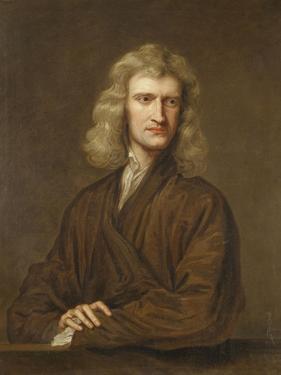 Portrait of Sir Isaac Newton (1642-1727) by Godfrey Kneller