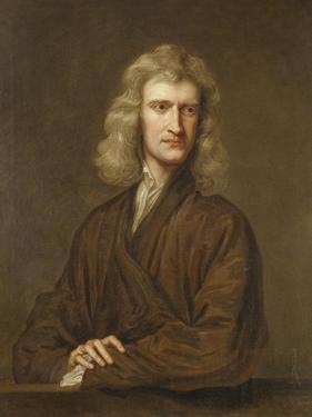 Portrait of Sir Isaac Newton, the Great Philosopher, Mathematician and Astronomer by Godfrey Kneller