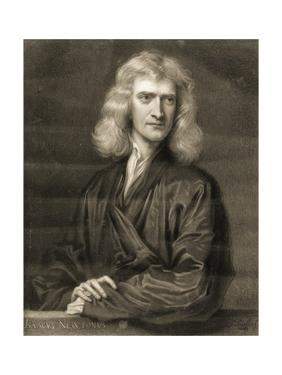 Portrait of Sir Isaac Newton by Godfrey Kneller