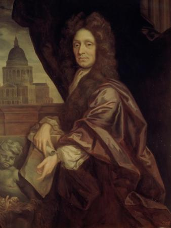 Sir Christopher Wren (1632-1723) by Godfrey Kneller