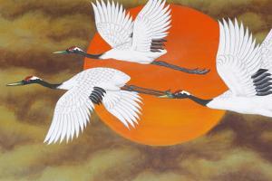 Bird painting at Bongeunsa temple, Seoul, South Korea by Godong