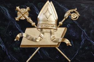 Bishop's objects in Saint-Nicolas de Veroce church, Haute Savoie, France by Godong
