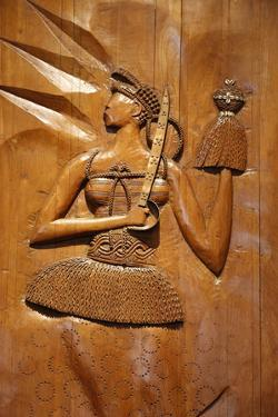 Carved Wooden Relief Depicting Candomble and Orisha by Artist Carybe, Afro-Brazilian Museum by Godong