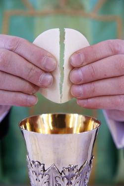 Celebration of the Eucharist, Catholic Mass, Villemomble, Seine-Saint-Denis, France, Europe by Godong