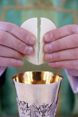 Celebration of the Eucharist, Catholic Mass, Villemomble, Seine-Saint-Denis, France, Europe by Godong