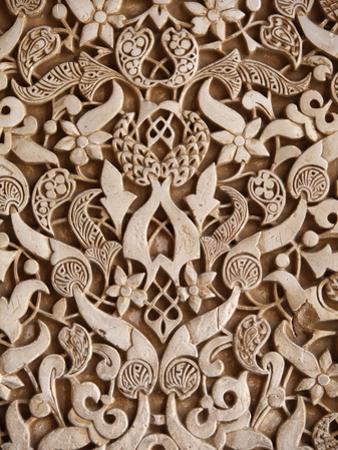 Detail, Palacio De Los Leones Sculpture, Nasrid Palaces, Alhambra, UNESCO World Heritage Site, Gran
