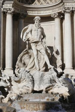 Detail Showing Arch of Triumph with Neptune from Trevi Fountain by Nicola Salvi and Niccolo Pannini by Godong