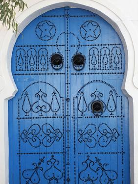 Door in Sidi Bou Said, Tunisia, North Africa, Africa by Godong