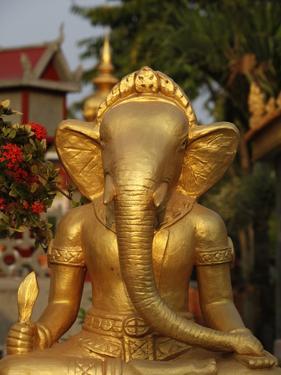 Ganesh Statue in Wat Deydos, Kompong Cham, Cambodia, Indochina, Southeast Asia by Godong