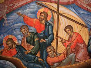 Greek Orthodox Icon Depicting Jesus and His Apostles on Lake Tiberias, Macedonia, Greece by Godong