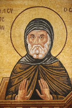 Greek Orthodox icon depicting St. Simeon, St. George's Orthodox church, Madaba, Jordan by Godong
