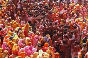 Holi Celebration in Dauji Temple, Dauji, Uttar Pradesh, India, Asia by Godong