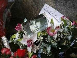 Jim Morrison's Grave at Pere Lachaise Cemetery, Paris, France, Europe by Godong