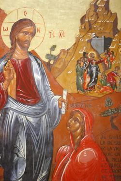 Lazarus's resurrection painted by Jean- Marie Vien in 1747, Sainte Marthe de Tarascon Abbey by Godong