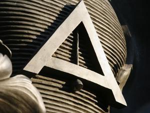 Masonic Symbol at the Place De La Nation, Paris, Ile De France, France, Europe by Godong