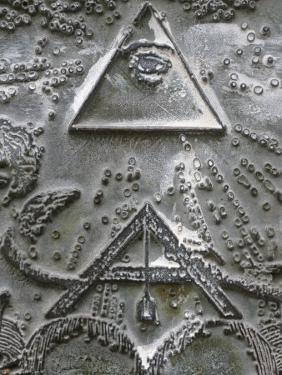 Masonic Symbols of Angle Bracket and Delta at the Human Right Monument in the Paris Champ De Mars by Godong