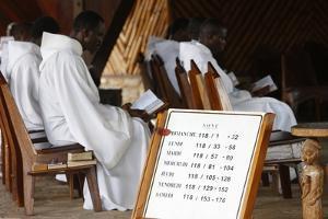 Mass in Dzogbegan Benedictine Abbey, Danyi Dzogbegan, Togo by Godong