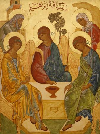 Melkite Icon of Abraham's Trinity, Nazareth, Galilee, Israel, Middle East