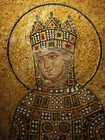 Mosaic of Empress Zoe, Hagia Sophia, Istanbul, Turkey, Europe