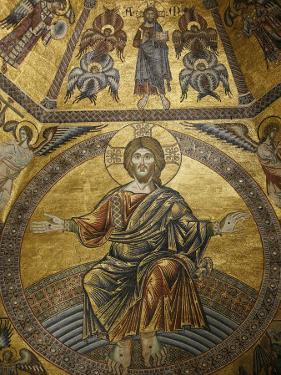 Mosaic of Jesus Christ in Baptistery of Duomo, Florence, Tuscany, Italy, Europe by Godong