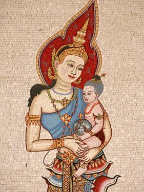 Mosaic of Thai Virgin, Annunciation Basilica, Nazareth, Galilee, Israel, Middle East by Godong