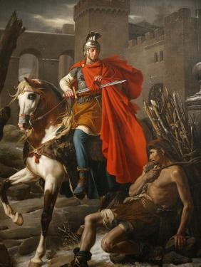 Painting of St. Martin Sharing His Coat, St. Gatien Cathedral, Tours, Indre-Et-Loire by Godong