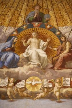 Painting of the Disputation over the Most Holy Sacrament by Godong