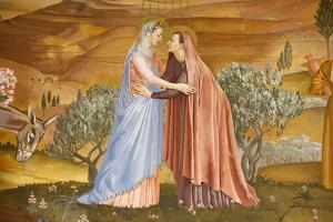 Painting of the Visitation in the Visitation church in Ein Kerem by Godong