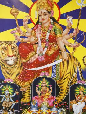 Picture of Hindu Goddess Durga, India, Asia by Godong