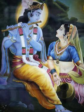 Picture of Hindu Gods Krishna and Rada, India, Asia by Godong