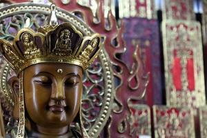 Quan Am, the Goddess of Mercy, Taoist temple. Jade Emperor pagoda (Chua Phuoc Hai) by Godong